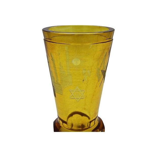 Antique Masonic Cut Glass Bud Vase For Sale - Image 5 of 7