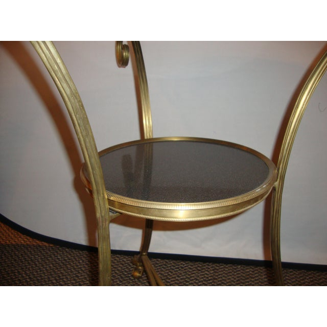 Bronze & Marble Two Tier Gueridon Side Table - Image 7 of 9