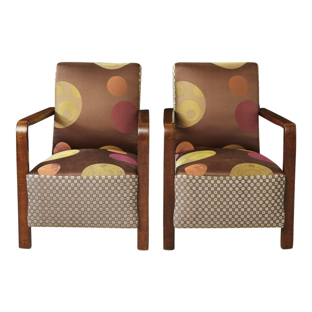Pair of 1920s Art Deco Lounge Chairs from Buenos Aires For Sale