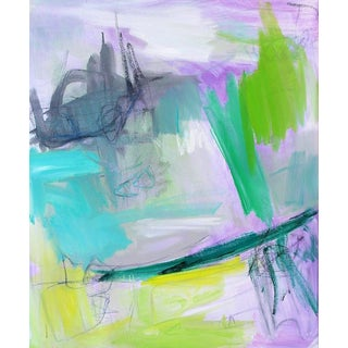 """Hint of Spring"" by Trixie Pitts Abstract Oil Painting For Sale"