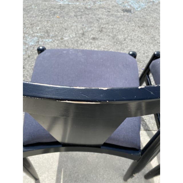 Canvas Midcentury Modern Style Klismos Chairs Set of Ten . For Sale - Image 7 of 13