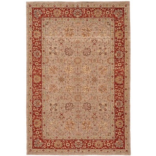 """Contemporary Indian Tabriz Rug, 6'1"""" X 8'11"""" For Sale"""
