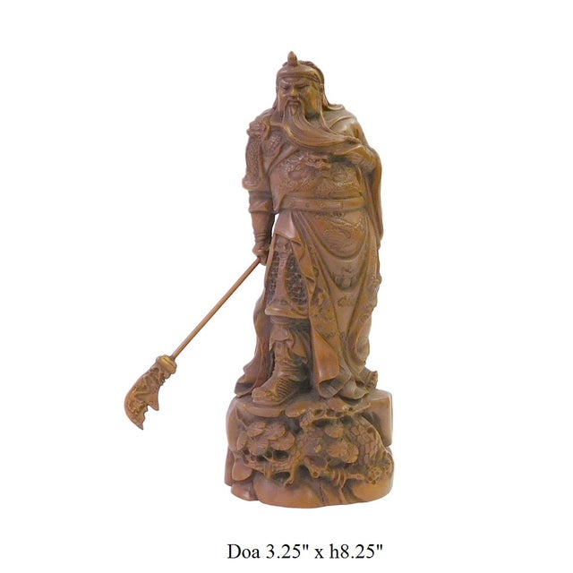 Chinese Wood Carved General Guan Statue - Image 6 of 6