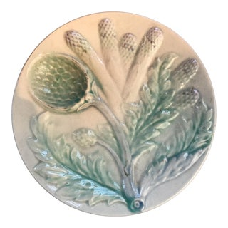 French Asparagus and Artichoke Plate For Sale