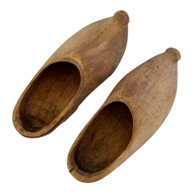 2ff40ade32872 Antique Wooden Clogs