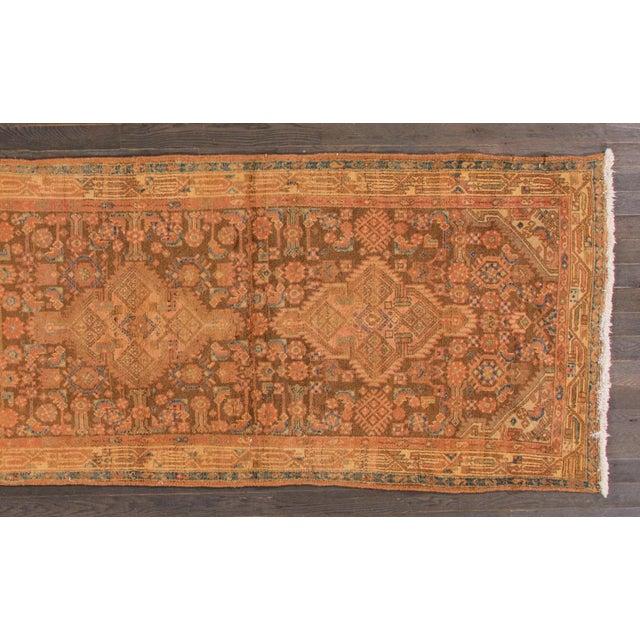 "Vintage Persian Hamadan Rug, 3'7"" x 10'10"" For Sale - Image 4 of 5"