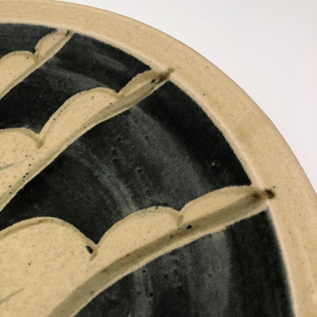 Ceramic 1970s Vintage Studio Pottery Platter For Sale - Image 7 of 13