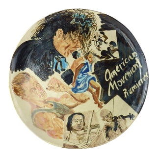 Contemporary Political Ceramic Plate by Marilyn Andrews, 1991 For Sale