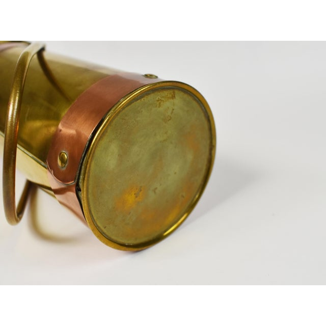 Vintage Copper Brass Coal Ash Scuttle Hod Bucket Scoop With Match Striking For Sale - Image 9 of 10