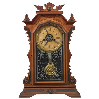 Antique E. Ingraham Gingerbread Style Clock For Sale
