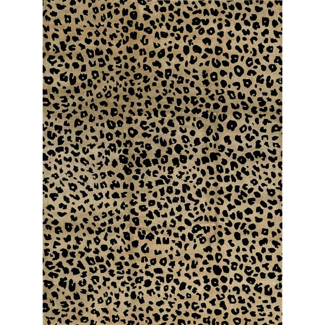 Contemporary Hand Woven Animal Print Rug - 9'1 X 12'2 For Sale