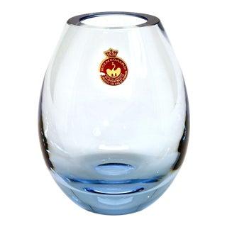 1960 Holmegaard Per Lutken Ice Blue Teardrop Blown Glass Vase For Sale