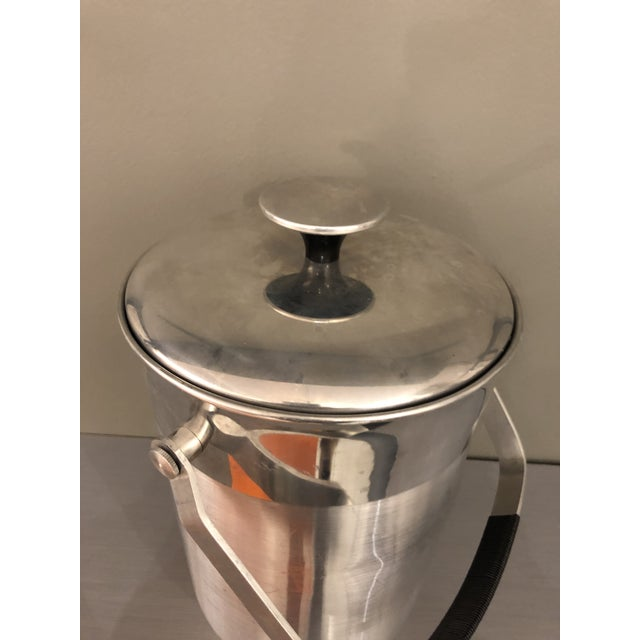 1970s Vintage Mid-Century Chrome Ice Bucket For Sale - Image 5 of 10