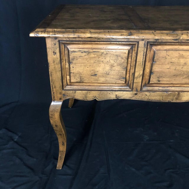 Brown Country French Provincial Desk by Guy Chaddock For Sale - Image 8 of 13