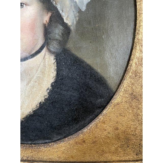 Late 18th Century English Portrait of a Lady Oil Painting Attributed to John Russell, Framed For Sale - Image 10 of 13
