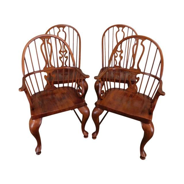 Bob Timberlake Lexington Furniture Set 4 Cherry Windsor Dining Chairs For Sale