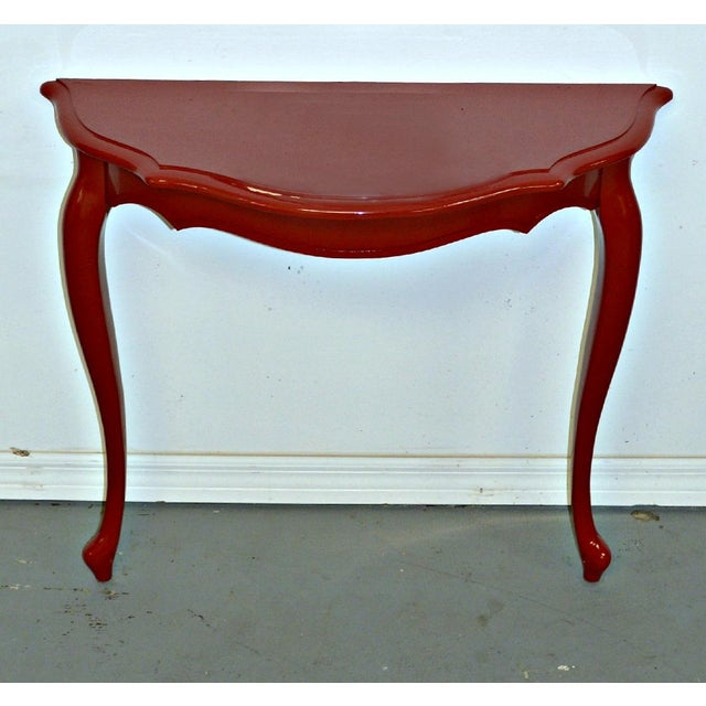 Red Demilune Console For Sale - Image 4 of 6