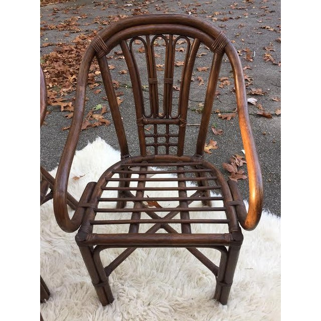 Vintage Rattan Chairs - Set of 4 - Image 3 of 8