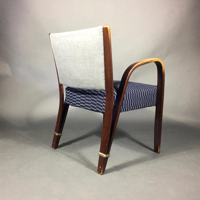 "1960s ""Bow Wood"" Armchair, Hughes Steiner, France 1950s For Sale - Image 5 of 8"