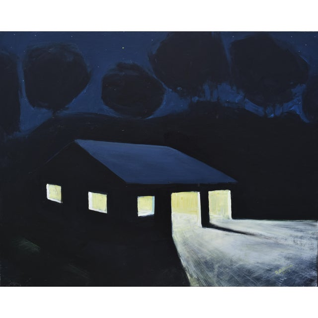 """""""Late Night Work"""" Contemporary Painting by Stephen Remick For Sale - Image 10 of 11"""
