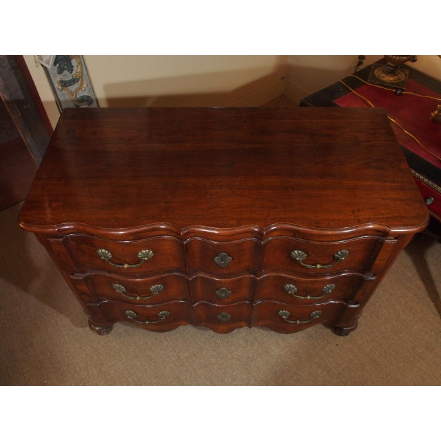 French Louis XV Walnut Commode For Sale - Image 3 of 9