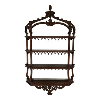 20th Century Chinese Pagoda Mahogany Wall Shelf For Sale