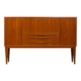 1960s Mid-Century Modern Teak Highboard by Lyby Mobler For Sale