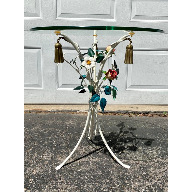 Italian Tole Accent Table For Sale - Image 9 of 9