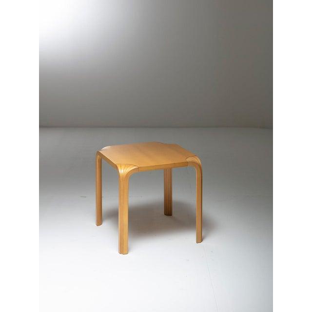 Set of two birch stools or side tables model X602 by Alvar Aalto for Artek.
