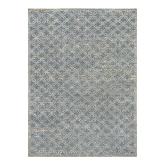 """Mansour Fine Handwoven Modern Rug - 8' X 9'9"""" For Sale"""