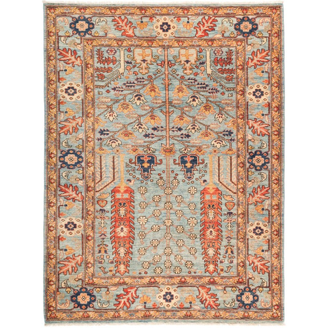 "Serapi Hand Knotted Area Rug - 5' 5"" X 7' 2"" - Image 4 of 4"