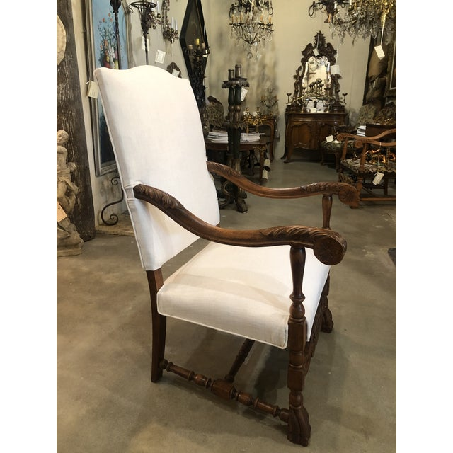 Late 19th Century Late 19th Century Antique French Arm Chair For Sale - Image 5 of 6