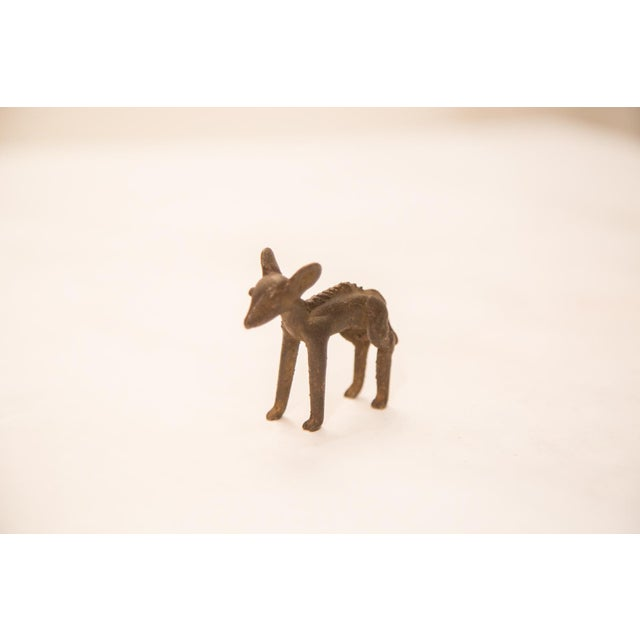 African Vintage Female Impala (Ewe) Bronze Gold Weight For Sale - Image 3 of 4