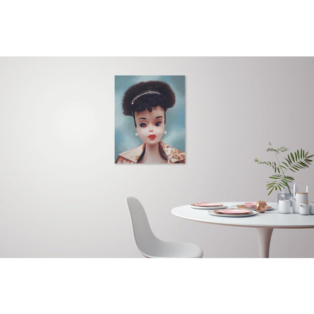 "Blue ""Evening Splendour"" Barbie Oil Painting For Sale - Image 8 of 11"