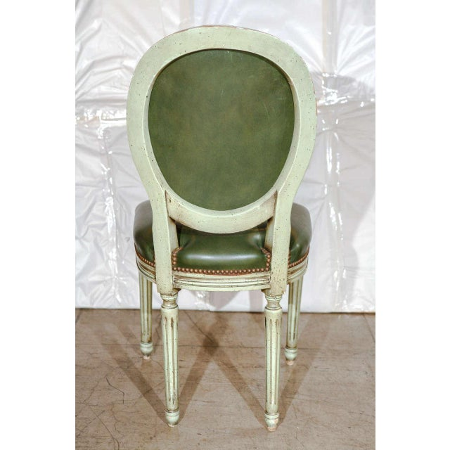 Set of Six French Louis XVI Dining Chairs For Sale - Image 9 of 11