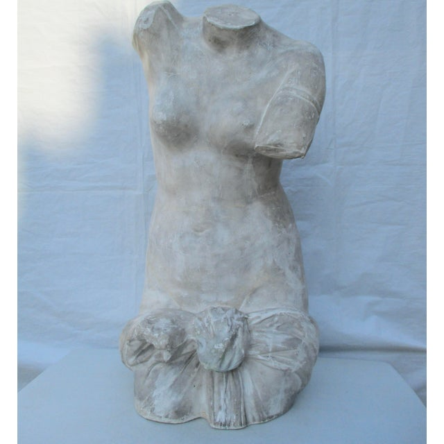 Handmade plaster cast of ancient Greek Female torso. Raw plaster created in multiple sections and built by hand from the...