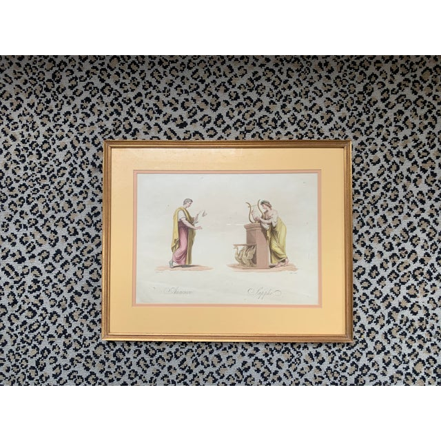 American 19th Century Classical Watercolor Painting For Sale - Image 3 of 4