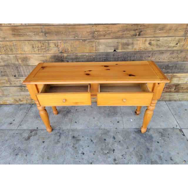 1980s Rustic Console Table with Drawers For Sale - Image 12 of 13