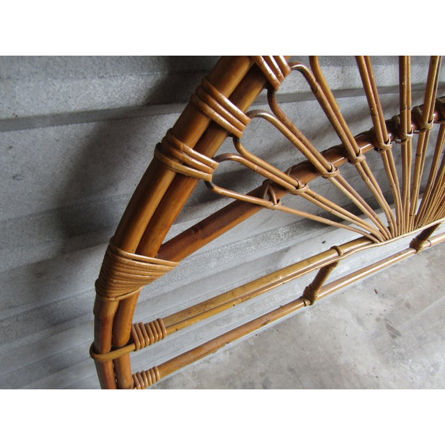Mid-Century Modern Fan Bamboo and Bentwood Headboard For Sale - Image 4 of 8