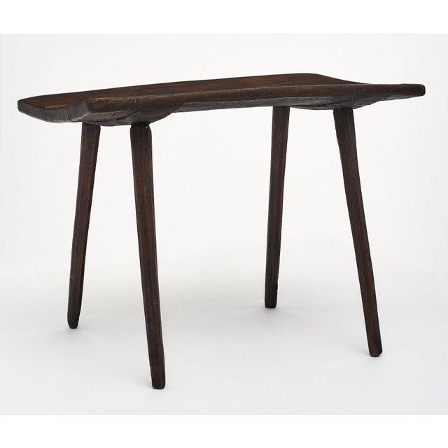 Italian Italian Farm Wood Side Table For Sale - Image 3 of 10