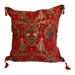 Vintage Turkish Kilim Motif Pillow Cover For Sale