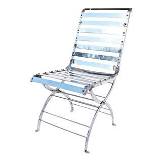 Custom Modern Stainless Steel Chair by Szilagyi For Sale