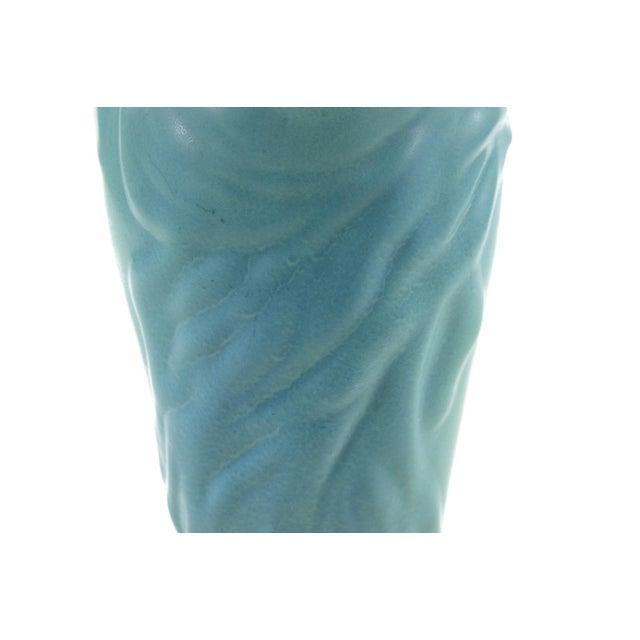"Turquoise Van Briggle ""Lorilei"" Art Nouveau Turquoise Vase For Sale - Image 8 of 9"