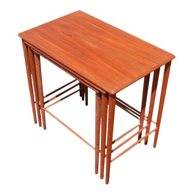 Vintage Grete Jalk Danish Nesting Side End Tables - Set of 3 For Sale