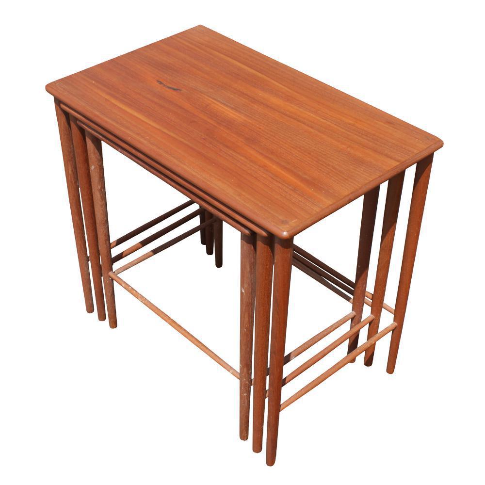 Attractive Vintage Grete Jalk Danish Nesting Side End Tables   Set Of 3 Idea