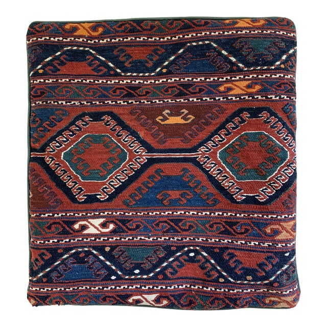 Turkish Handwoven Kilim Pillow Cover For Sale