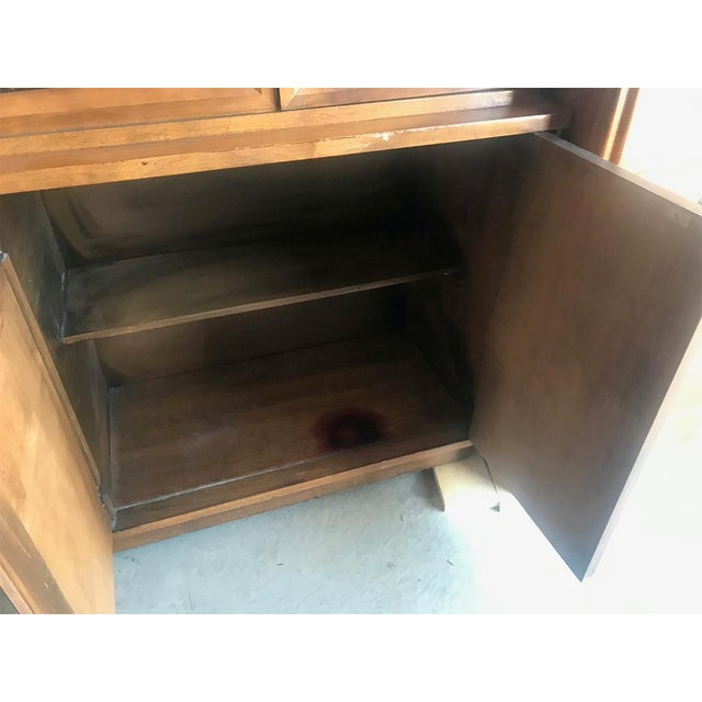 Brown Mid Century Modern Hutch / China Cabinet For Sale - Image 8 of 13