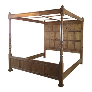 Henredon Pine Panel Headboard Canopy Bed For Sale