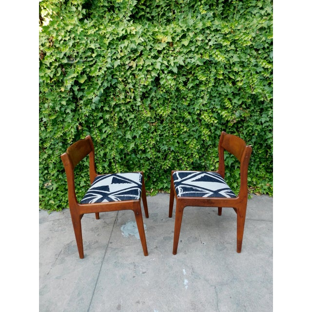 Textile Moller Style Dining Head Chair For Sale - Image 7 of 11