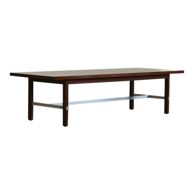 Incredible Paul McCobb Walnut And Aluminum Coffee Table For Calvin - Calvin coffee table